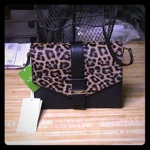 Kate Spade New Leopard Haircalf and Leather Bag